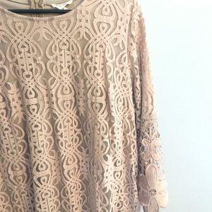 Dresses & Skirts - Nude/ Mocha Lace Dress